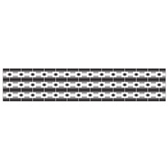 Pattern Background Texture Black Flano Scarf (Small)