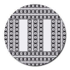 Pattern Background Texture Black Round Mousepads