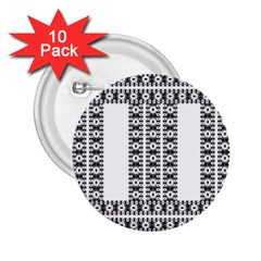 Pattern Background Texture Black 2.25  Buttons (10 pack)