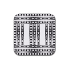 Pattern Background Texture Black Rubber Square Coaster (4 pack)