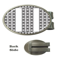 Pattern Background Texture Black Money Clips (Oval)