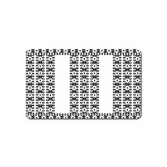 Pattern Background Texture Black Magnet (Name Card)