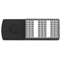 Pattern Background Texture Black USB Flash Drive Rectangular (1 GB)