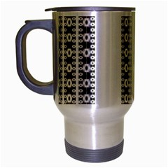 Pattern Background Texture Black Travel Mug (Silver Gray)