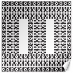 Pattern Background Texture Black Canvas 20  x 20