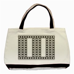Pattern Background Texture Black Basic Tote Bag (Two Sides)