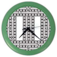 Pattern Background Texture Black Color Wall Clocks