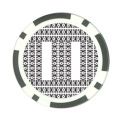 Pattern Background Texture Black Poker Chip Card Guards (10 pack)