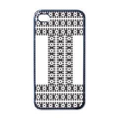 Pattern Background Texture Black Apple iPhone 4 Case (Black)