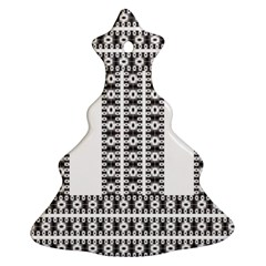 Pattern Background Texture Black Christmas Tree Ornament (2 Sides)