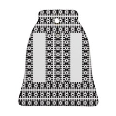 Pattern Background Texture Black Bell Ornament (2 Sides)