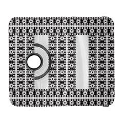 Pattern Background Texture Black Galaxy S3 (Flip/Folio)