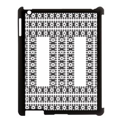 Pattern Background Texture Black Apple iPad 3/4 Case (Black)