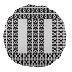 Pattern Background Texture Black Large 18  Premium Round Cushions