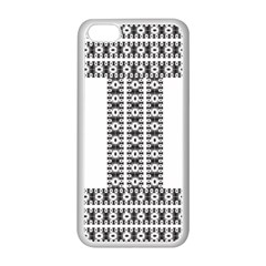 Pattern Background Texture Black Apple iPhone 5C Seamless Case (White)