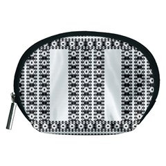 Pattern Background Texture Black Accessory Pouches (Medium)
