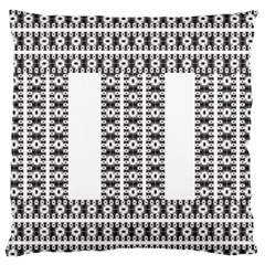 Pattern Background Texture Black Large Flano Cushion Case (Two Sides)