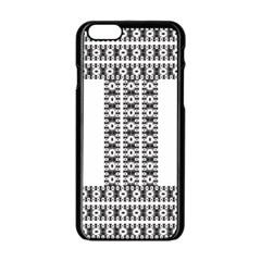 Pattern Background Texture Black Apple iPhone 6/6S Black Enamel Case