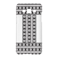 Pattern Background Texture Black Samsung Galaxy A5 Hardshell Case