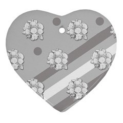 Stripes Pattern Background Design Ornament (Heart)