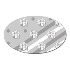 Stripes Pattern Background Design Oval Magnet