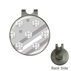 Stripes Pattern Background Design Hat Clips with Golf Markers