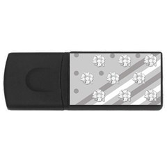 Stripes Pattern Background Design USB Flash Drive Rectangular (4 GB)