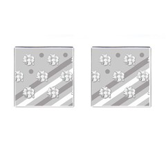 Stripes Pattern Background Design Cufflinks (Square)