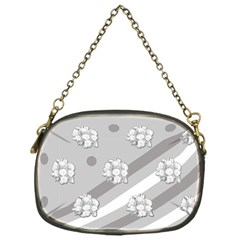 Stripes Pattern Background Design Chain Purses (One Side)