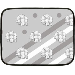 Stripes Pattern Background Design Fleece Blanket (Mini)