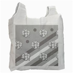 Stripes Pattern Background Design Recycle Bag (Two Side)