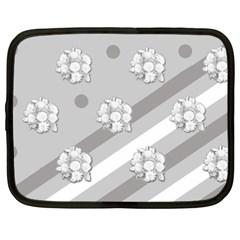 Stripes Pattern Background Design Netbook Case (XXL)