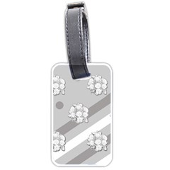 Stripes Pattern Background Design Luggage Tags (Two Sides)
