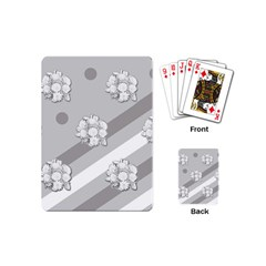 Stripes Pattern Background Design Playing Cards (Mini)