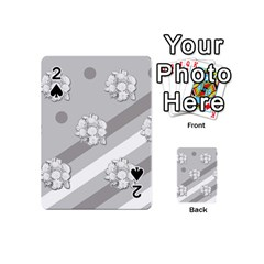 Stripes Pattern Background Design Playing Cards 54 (Mini)