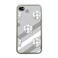 Stripes Pattern Background Design Apple iPhone 4 Case (Clear)