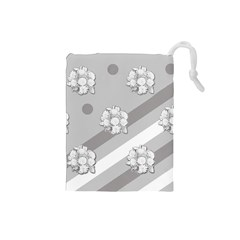 Stripes Pattern Background Design Drawstring Pouches (Small)
