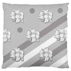 Stripes Pattern Background Design Large Flano Cushion Case (Two Sides)