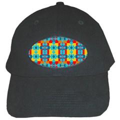 Pop Art Abstract Design Pattern Black Cap