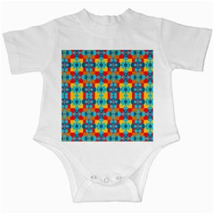 Pop Art Abstract Design Pattern Infant Creepers