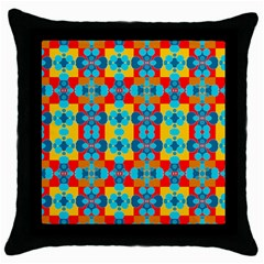 Pop Art Abstract Design Pattern Throw Pillow Case (Black)