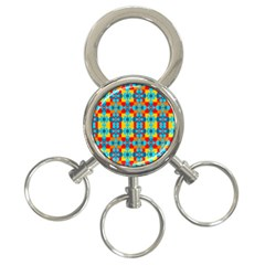 Pop Art Abstract Design Pattern 3-Ring Key Chains