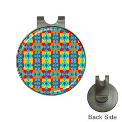 Pop Art Abstract Design Pattern Hat Clips with Golf Markers