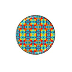 Pop Art Abstract Design Pattern Hat Clip Ball Marker (4 pack)