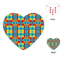 Pop Art Abstract Design Pattern Playing Cards (Heart)