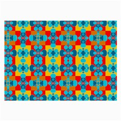 Pop Art Abstract Design Pattern Large Glasses Cloth