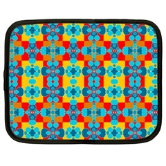 Pop Art Abstract Design Pattern Netbook Case (XXL)