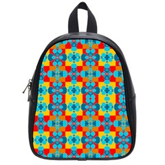 Pop Art Abstract Design Pattern School Bags (Small)