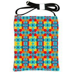 Pop Art Abstract Design Pattern Shoulder Sling Bags