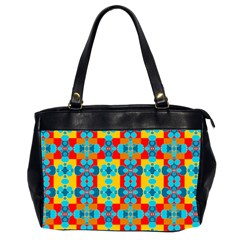 Pop Art Abstract Design Pattern Office Handbags (2 Sides)